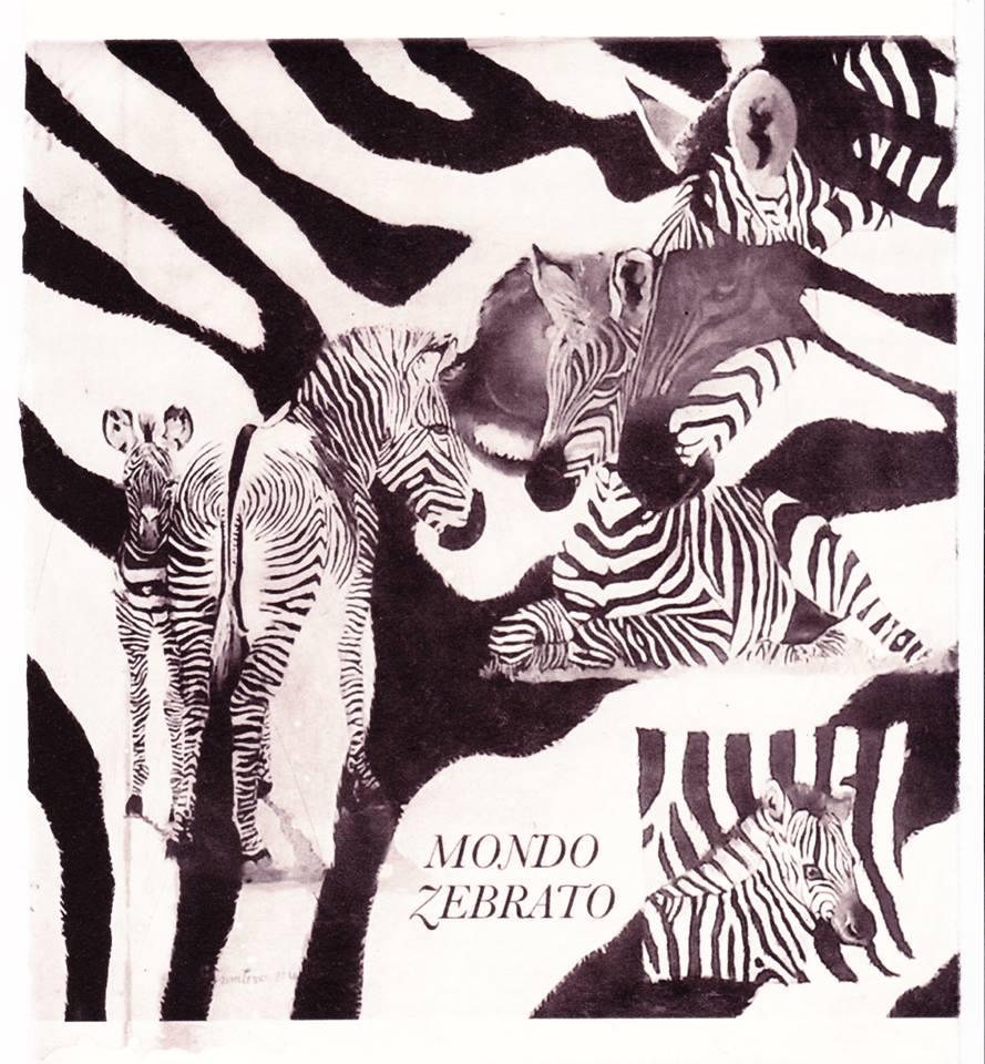 Mondo zebrato- elioincisione